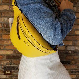 Kate Spade Gold YARROW Belt Fanny Pack Bag Jackson